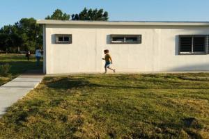 Se inauguraron las obras de mejoramiento de Presupuesto Participativo en el Club Chimenea.-