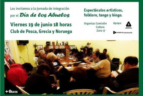 19 de junio: Los invitamos a la jornada de integración por el Día de los Abuelos