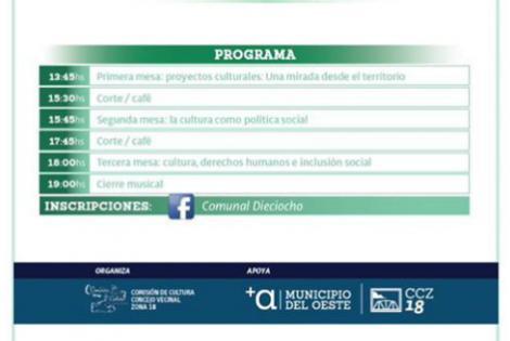 Programa Seminario Cultura Comunitaria