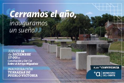 Inauguración de la obra Terrazas de Pueblo Victoria.-