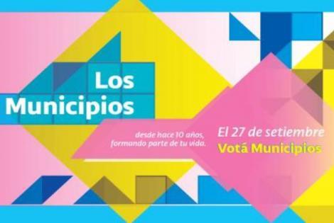 """Campaña """"VOTÁ MUNICIPIOS"""", de cara a las elecciones del próximo 27 de setiembre.-"""