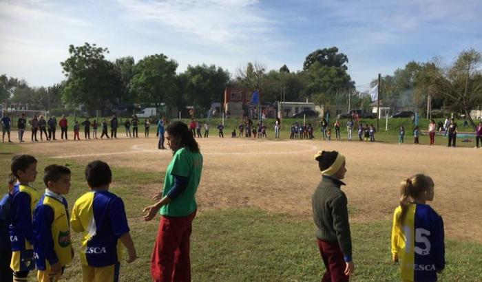 Fotografía del evento Fútbol Integración. Foto: Pablo Guedes.