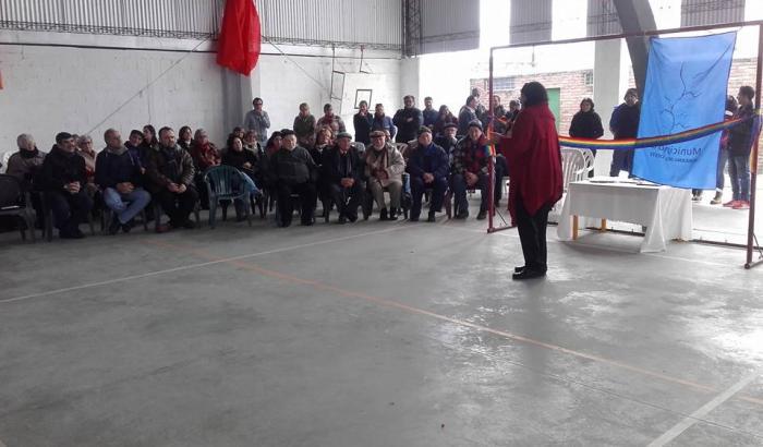 Inauguracion del gimnasio techado del Sanfra. Foto Pablo Khalil