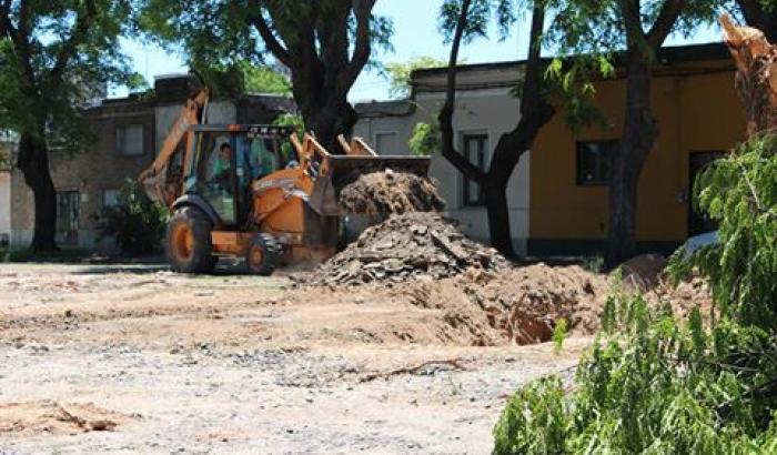 Obras en Plaza Pérez - Paso Molino