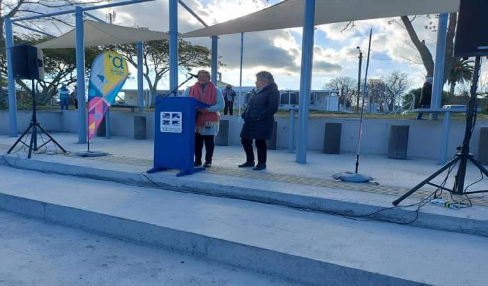 Se inauguró un nuevo espacio para el disfrute público en el pueblo Santiago Vázquez.-