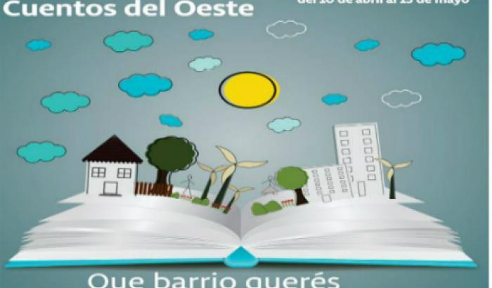 """Afiche convocatoria para """"Cuentos del oeste""""."""