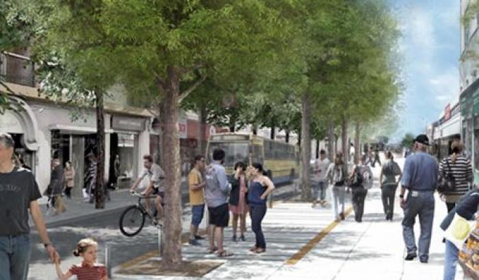 Presentación el proyecto de la semi peatonal del Cerro en la calle Grecia.