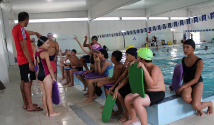 Clases de natación para niños del Zonal 18