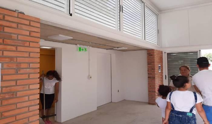 Inauguracuón de obras en Plaza N°10 del Cerro