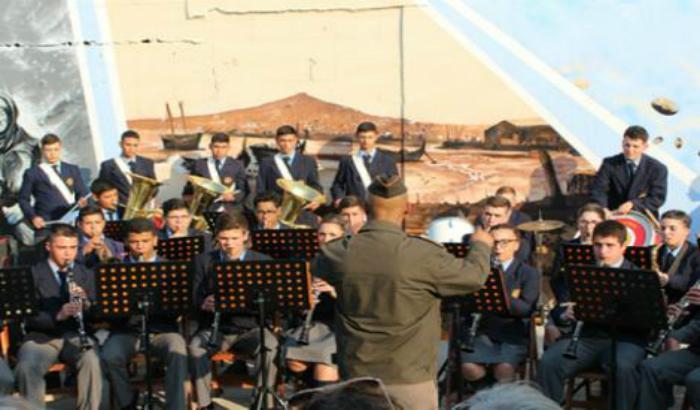Banda del Ejercito en el lanzamiento de los 184 años de la Villa