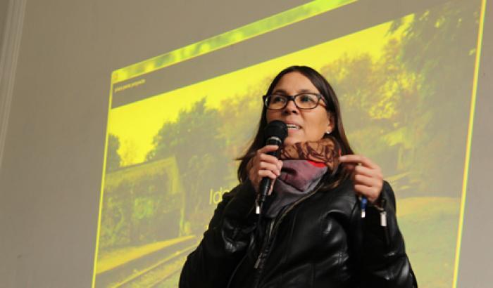 Arqta. Gabriela Castro (CCZ14) en la presentación del proyecto.