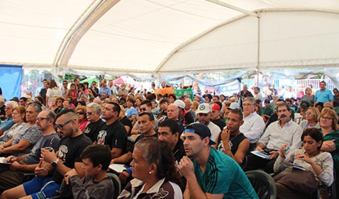 Sexto Cabildo Abierto en Plaza 10. Foto: Milena Santos