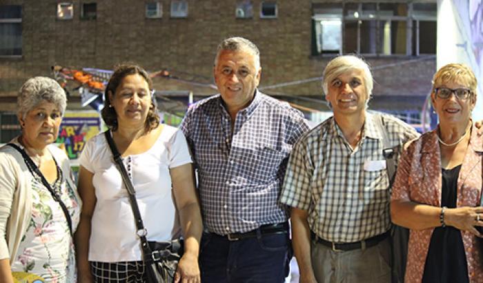 Concejo Vecinal y alcalde (i) Soria en Tablado Arbolito Tejano