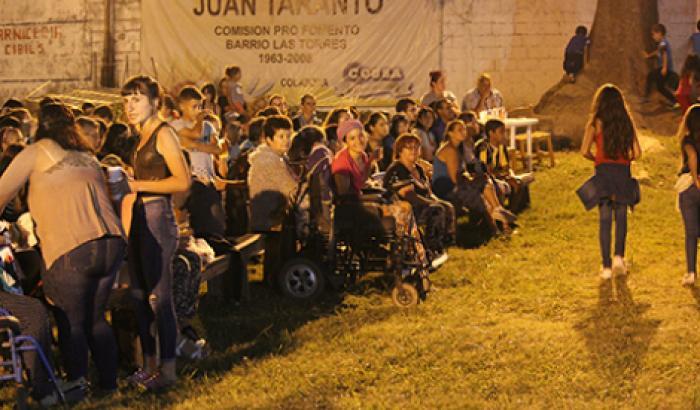 Escenario popular Juan Taranto (Las Torres) Foto: Pablo Guedes